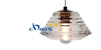 【挑椅子】Pressed Glass Lens Pendant   壓玻璃   吊燈    複刻版。001-212