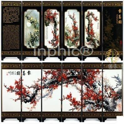 INPHIC-大款屏風家居客廳裝飾擺飾 中國特色新年 報春圖