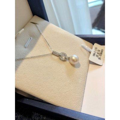 《巴黎拜金女》18k白金色項鍊鑲鑽鎖骨鏈!吊墜精緻珍珠項鍊限
