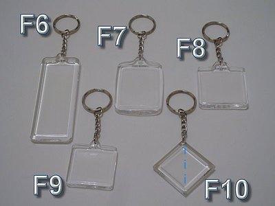 台灣精品!!我最便宜!!手工藝DIY˙空白4環加長鏈壓克力鑰匙圈˙放押花˙相片˙紙蕾絲
