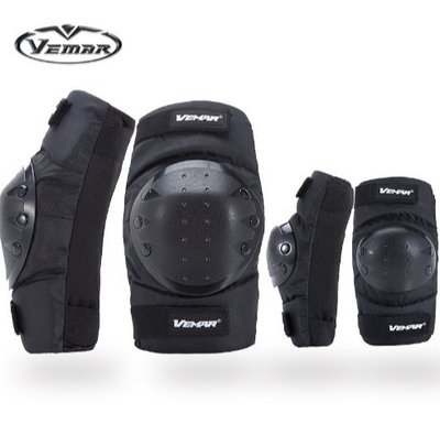 VEMAR夏季摩托車護具越野騎行防摔護膝護肘裝備短款護具騎行護具套裝機動機防摔護具 護肘 護膝四件套
