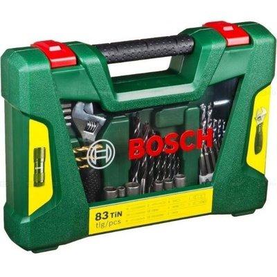 【台灣工具】德國 BOSCH 博世 勝利83配件組 附LED手電筒/活動扳手