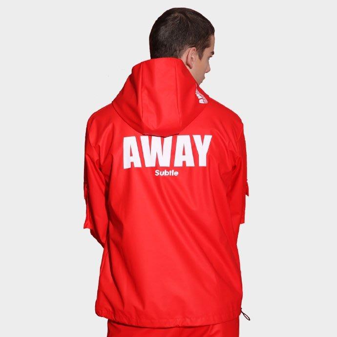 Subtle最新AWAY防水機能休閒上衣(有帽)/夾克、外套、運動、騎車 帥氣十足/男、女都可穿