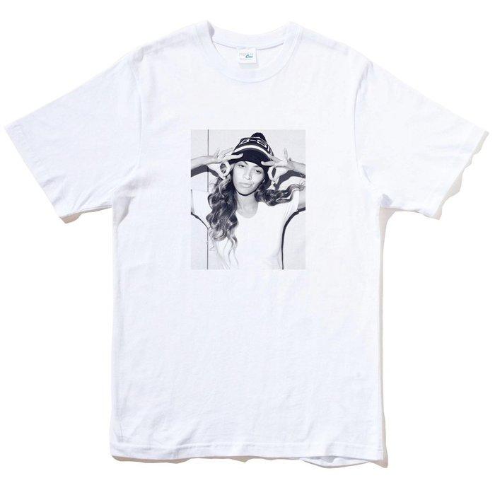 Beyonce 短袖T恤 白色 碧昂絲 Jay Z 街頭 潮流 搖滾 設計 趣味 幽默 筒T 班服 團體 活動