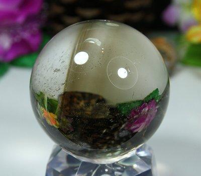 孟宸水晶 = A9007  (100%天然超清透茶水晶球368克)