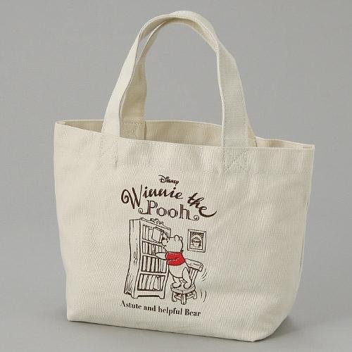 迪士尼小熊維尼手提袋 帆布包 便當袋 隨身包包 日本正版~彤小皮的遊go世界