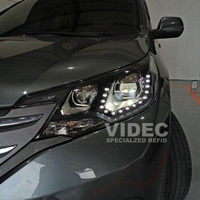 大台北汽車精品 HID HONDA 12-17 CRV 4代 4.5代 專用 U型 魚眼 大燈 總成 光圈 LED 日行