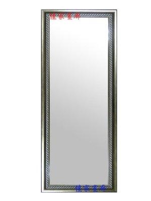 ◎『佳家畫廊』→歐風華麗~螺紋款【含框做好60*120cm】穿衣鏡/掛鏡◎高雄訂製鏡子