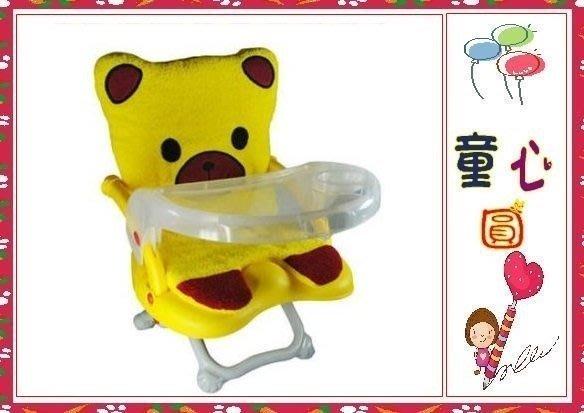 Arico -Q CHAIR多功能兒童餐椅/黃色小熊-(有椅套款)◎童心玩具1館◎