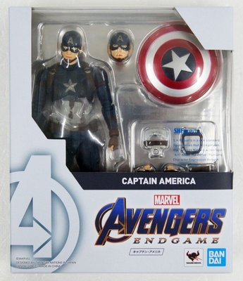 Bandai SHF Marvel Avengers End Game Captain America 美國隊長