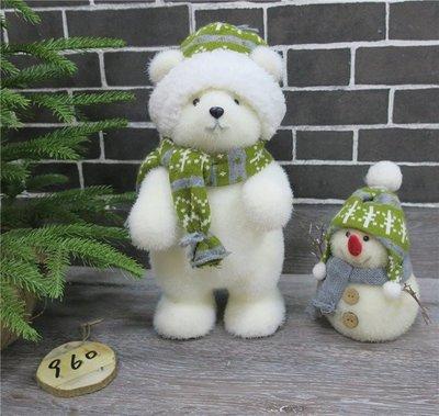 海迪家居裝飾泡沫植絨熊擺飾聖誕擺飾拍攝道具泡沫熊小雞雪人擺飾