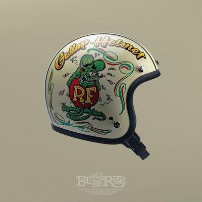 台北 喆凡 gallop x rat fink ratfink 復古 4/3安全帽 triumph 凱旋 偉士 w800 t120 cuxi 小帽體