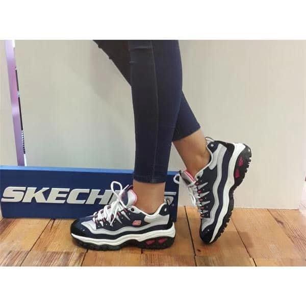 安安精品保證正品SKECHERS 2020主打款 13400W NVHP複古運動鞋波浪形邊緣皮革鞋面