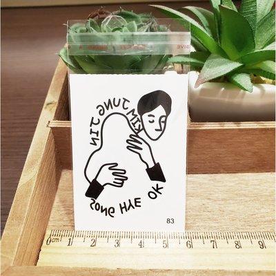 【萌古屋】百態人生83單圖 - 男女防水紋身貼紙刺青貼紙 K43