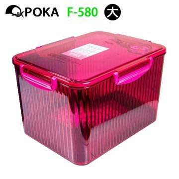 F-580防潮箱(紛紅色 附溼度計)相機 鏡頭 專用 防潮盒 除濕 收藏 台灣製 乾燥劑 免插電 【大毛生活】