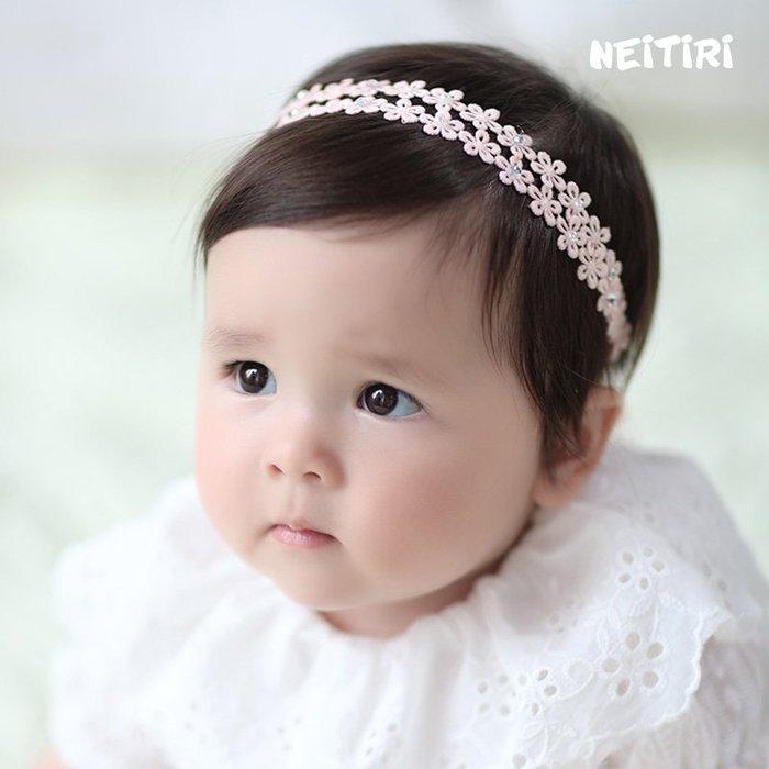 ☆草莓花園☆B60兒童髮帶 蕾絲小花朵 兒童髮飾  百天照頭飾 嬰兒髮帶 髮冠 皇冠 造型周歲照 藝術照