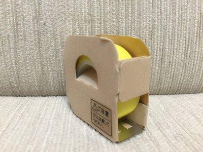 天使熊小鋪~日本帶回無印良品風格 黃色紙膠帶 膠帶台 辦公室創意小物