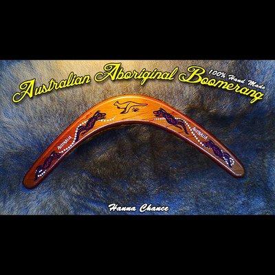 Australian Aboriginal Boomerang 澳洲 原住民 純手工 迴力鏢 100%澳洲製 擺飾 禮品