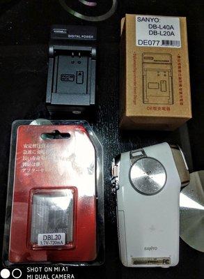 Cacti 5攝錄影機,附充電器、電池兩個,白色機身略有摩擦