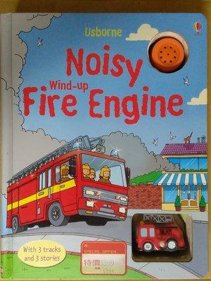 【雷根5】 軌道消防車 NOISY WIND-UP FIRE ENGINE#附玩具車#免運#7成新#UB130#需換電池