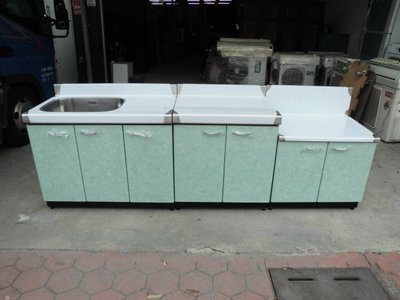 全新品  不銹鋼三件式流理台&二手家具台中權威 抽油煙機 白鐵工作台 切菜台