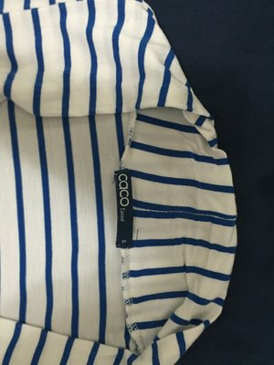 二手 caco casual S號 五分袖 藍色橫紋 涼感 薄外套 近新