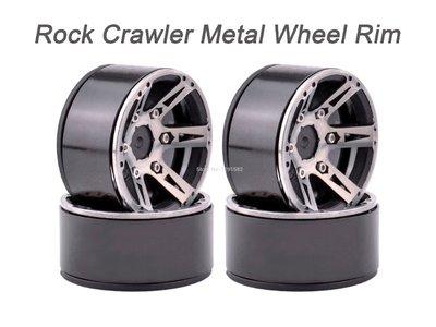 C01D 4pcs RC Rock Crawler Metal Rim 1.9 Inch BEADLOCK 1/10 Axial SCX10 TAMIYA