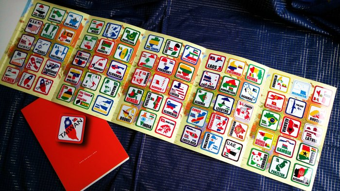 【衝浪小胖】世界國旗領土旅行箱貼紙組合(一套210款)/防水耐候/Rimowa出國必備