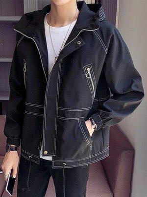 外套 男 港風chic外套男春秋韓版秋季男士夾克學生青少年男生潮流寬鬆上衣