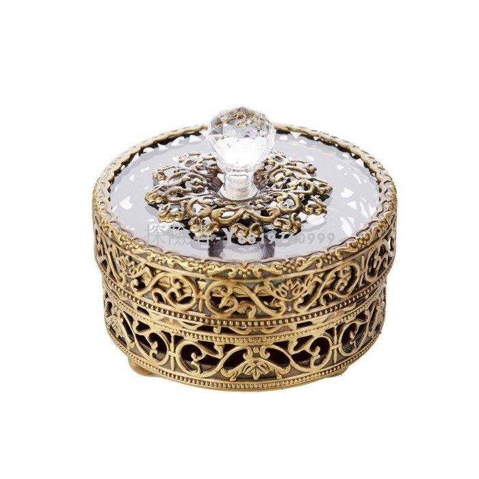 探險者~有歐式復古公主首飾盒 項鏈 耳飾 置物盒 戒指 手飾品 收納盒 帶玻璃蓋