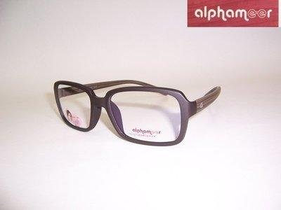 光寶眼鏡城(台南)alphameer許瑋甯代言,ULTEM最輕鎢碳塑鋼眼鏡*AM-51/CW3 ,程又青款,消光咖木紋