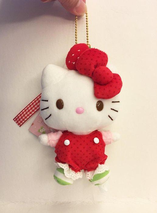 ^燕子部屋 ^三麗鷗 【Hello Kitty】 草莓珠鍊毛絨娃娃