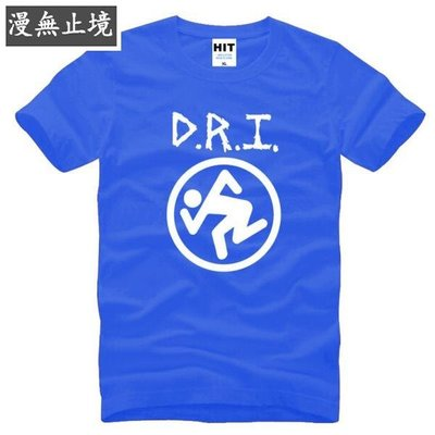 漫無止境 男式短袖T恤 Dirty Rotten Imbeciles D.R.I 激流金屬 搖滾 ebayy