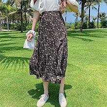 Maisobo 韓 春夏 浪漫小碎花後鬆緊雪紡長裙 4色 TO2-158 預購