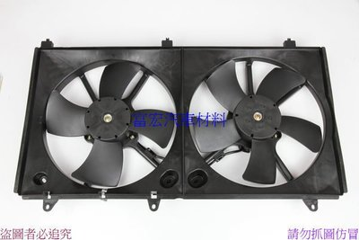 〝六邑汽車材料〞三菱 GRUNDER 冷氣 水箱 冷卻風扇總成 全新品日本馬達 特價2500元