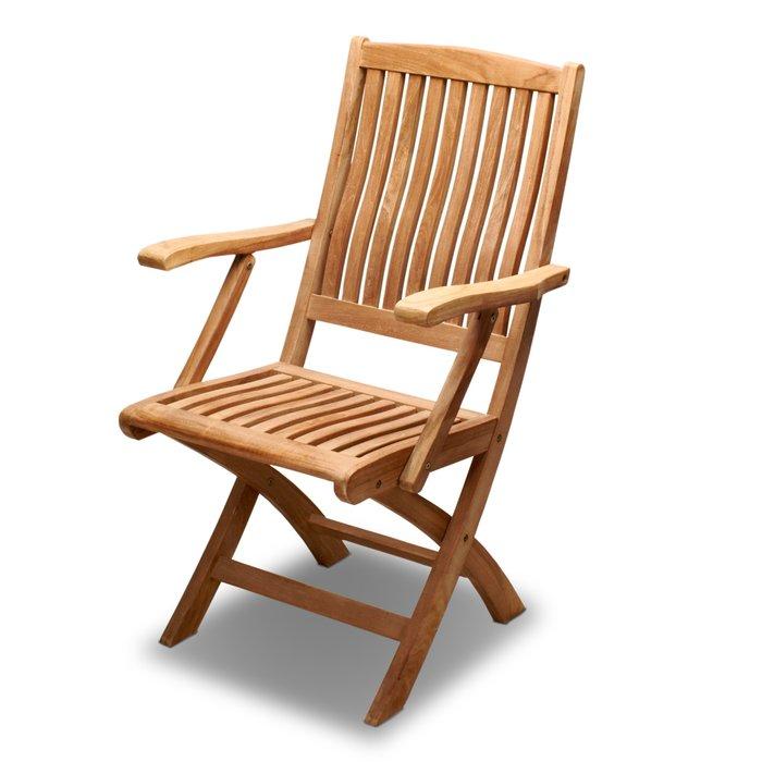 柚木折疊椅~附扶手柚木椅-產地印尼南洋休閑風情~可搭配多款木桌,兄弟牌戶外庭園休閒傢俱!