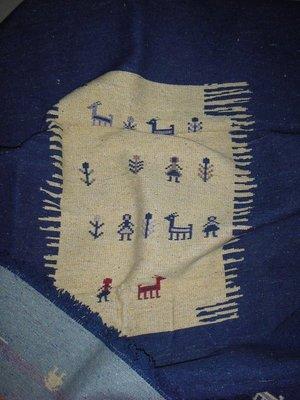 希臘買的,全新民族風雙面手工織 羊毛地毯 適合放客廳臥室