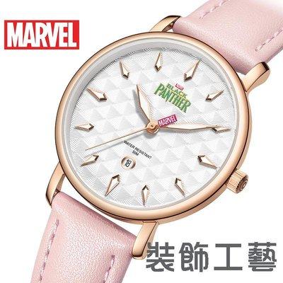 MARVEL漫威手錶女士石英錶 新款黑...