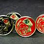 Egypt enamelled coin cufflinks 5 Milliemes 18mm