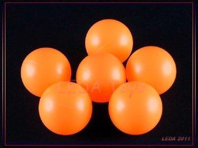 【樂達玩具】空白乒乓球【橘色】無字乒乓球 摸彩 抽獎 遊戲球 跳跳樂 綜合玩具 #2691