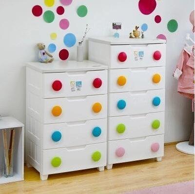 『格倫雅』日本iris愛麗思抽屜式收納櫃環保塑膠兒童儲物櫃整理櫃寶寶衣櫃^13667