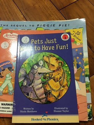 英文童書Pets Just Want to Have Fun Hooked on Phonics Level 3 E37