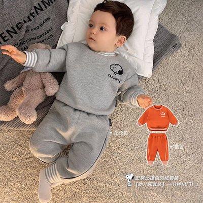 新款#儿童衣服新款卡通男女寶寶衛衣套裝洋氣兩件套小童春秋裝潮#儿童套装pdd