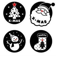 小妮子的家@聖誕老人二壁貼/牆貼/玻璃貼/磁磚貼/汽車貼/家具貼