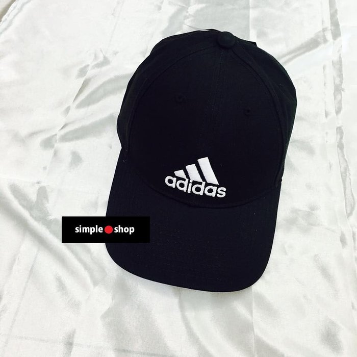 【Simple Shop】現貨 Adidas PERF CAP LOGO 刺繡 ADIDAS老帽 鴨舌帽 黑色 可調式