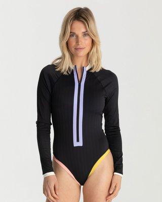 女連身防磨衣 Hurley Colorblock Moderate Bodysuit