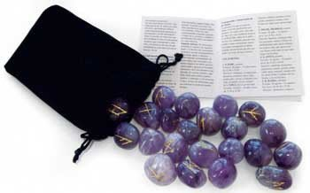 【預馨緣塔羅鋪】現貨正版紫水晶如恩石Amethyst Runes(全新25顆)