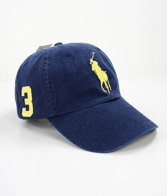 美國百分百【全新真品】Ralph Lauren 帽子 RL 棒球帽 Polo 大馬 深寶藍 男帽 黃馬 遮陽帽 C482