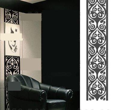 小妮子的家@歐式花紋/玉露腰線貼壁貼/牆貼/玻璃貼/汽車貼/磁磚貼/家具貼