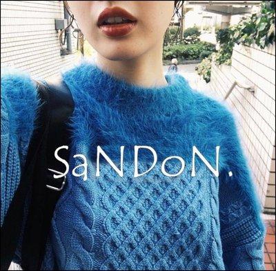 SaNDoN x『MOUSSY』冬季熱賣販售 拼接毛絨羊毛完全不會刺麻花編織毛衣 SLY 171201